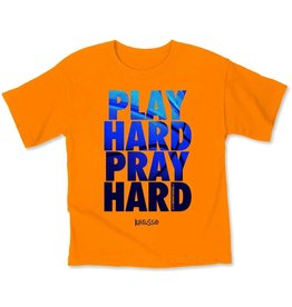 Kids Shirt -  Play Hard Pray Hard, Sports