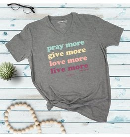Adult V-Neck Shirt - Live More