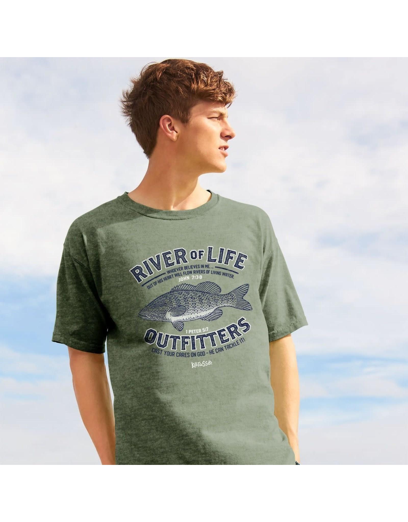 Adult Shirt - Fishing, River of Life