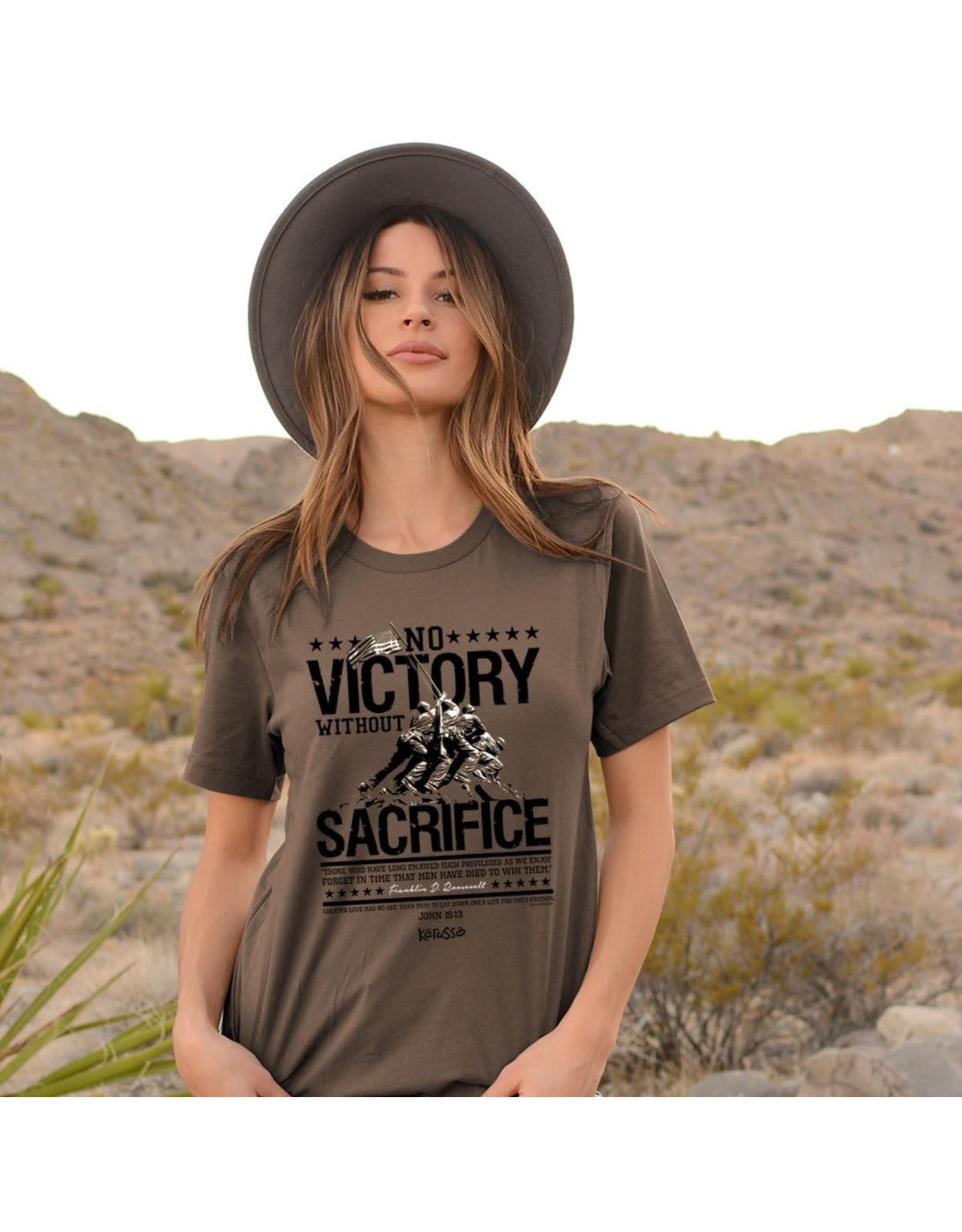 Adult Shirt - No Victory without Sacrifice, Roosevelt