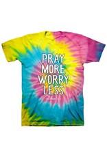 Adult Shirt - Pray More (Tie Dye)