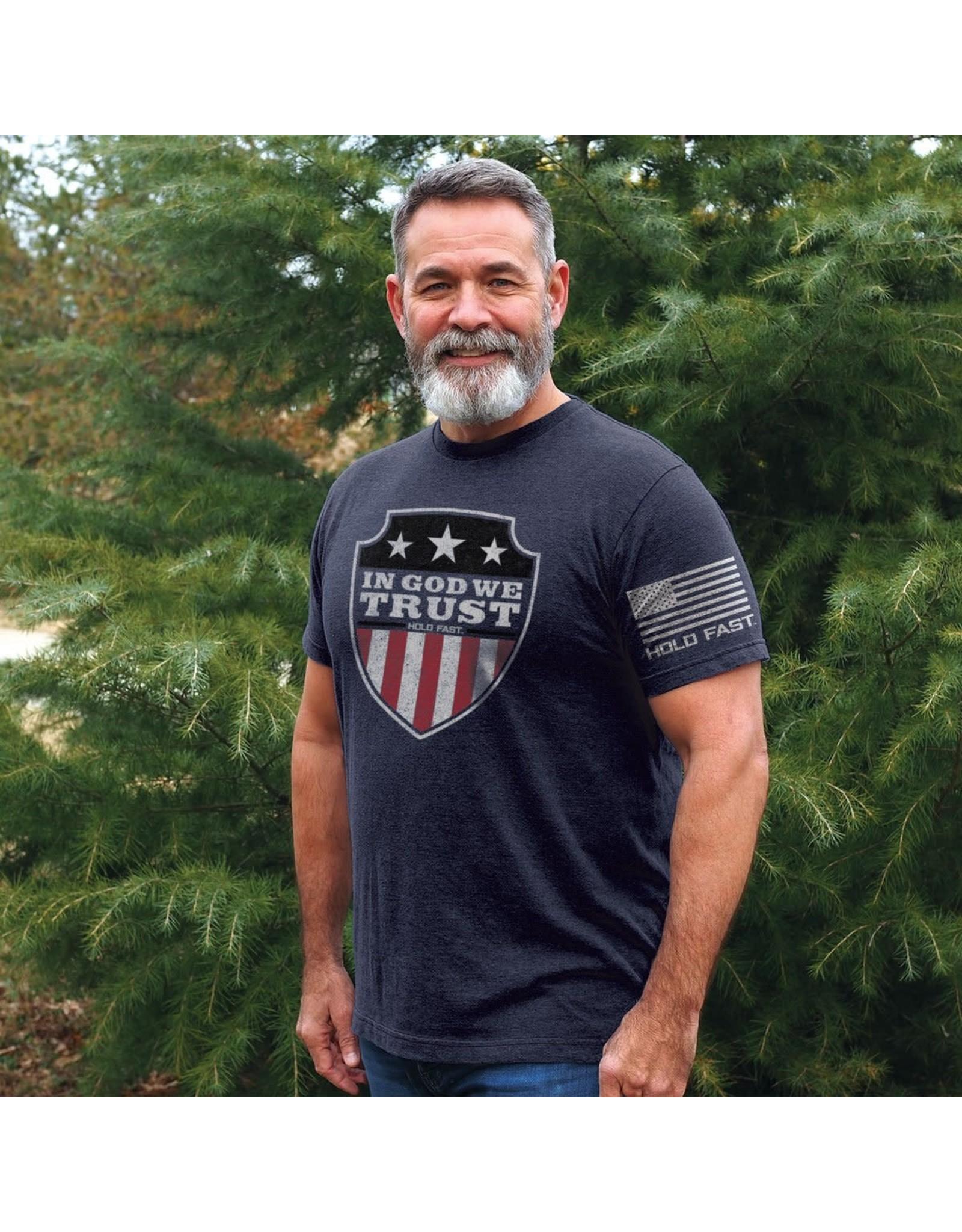 Adult Shirt - In God We Trust Shield