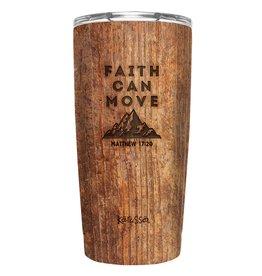 20oz Stainless Steel Tumbler - Faith Can Move