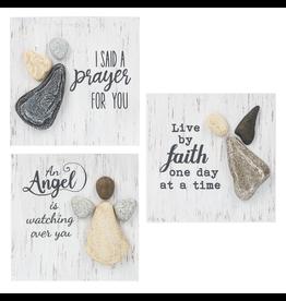Pebble Art Angel Box Plaque