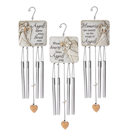 Memorial Pebble Angel Windchimes