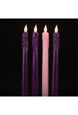 "4pc LED Advent Candle Set (10"")"