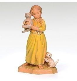 "Fontanini - Filia, Girl with Cats (5"" Scale)"