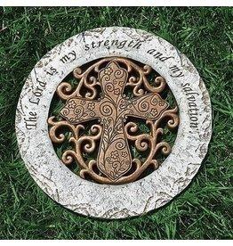 Bronze Garden Stone (Cross)