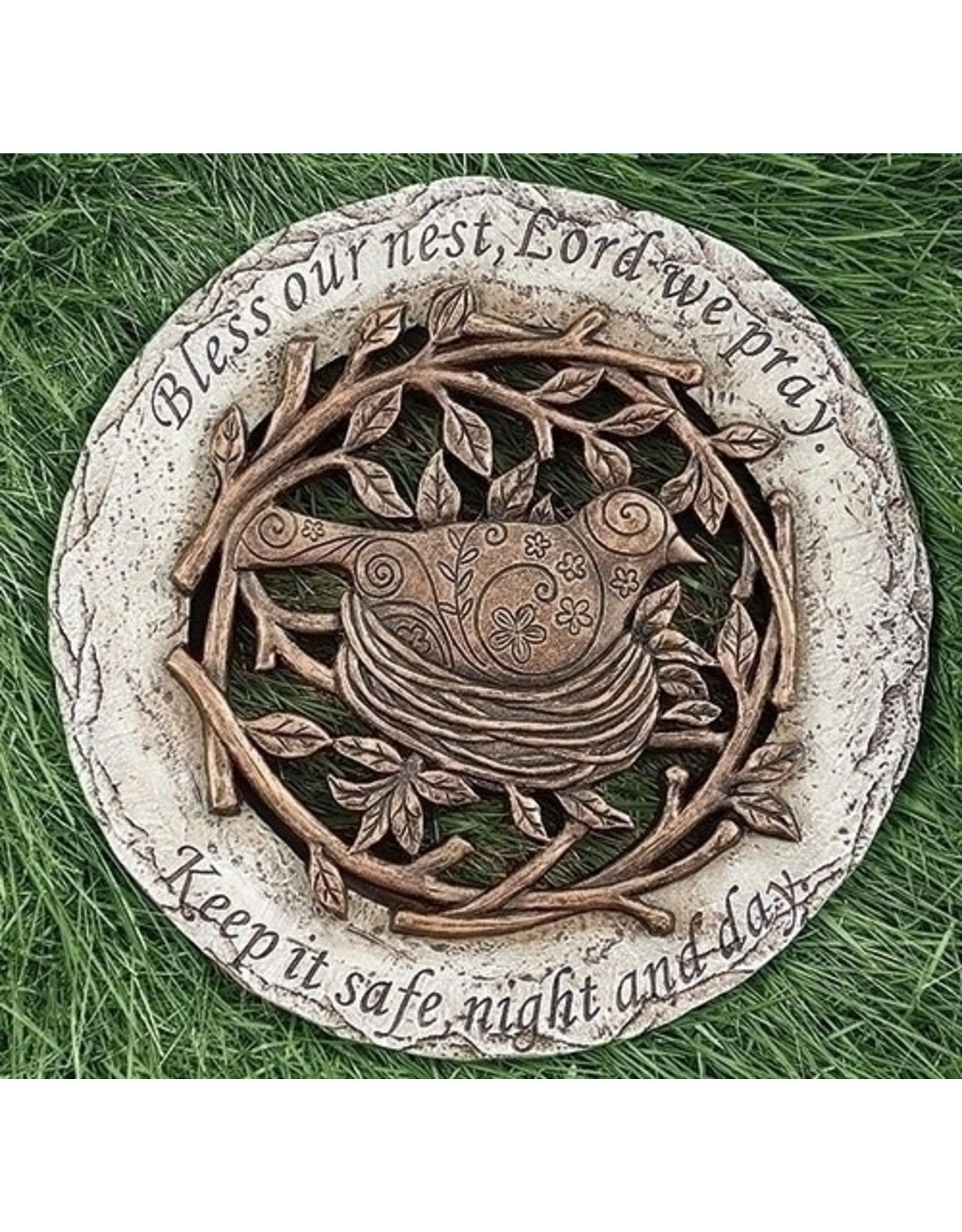 Bronze Garden Stone (Bird)