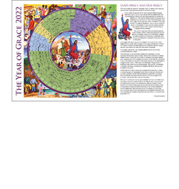 2022 Year of Grace Calendar - Laminated Placemat Size