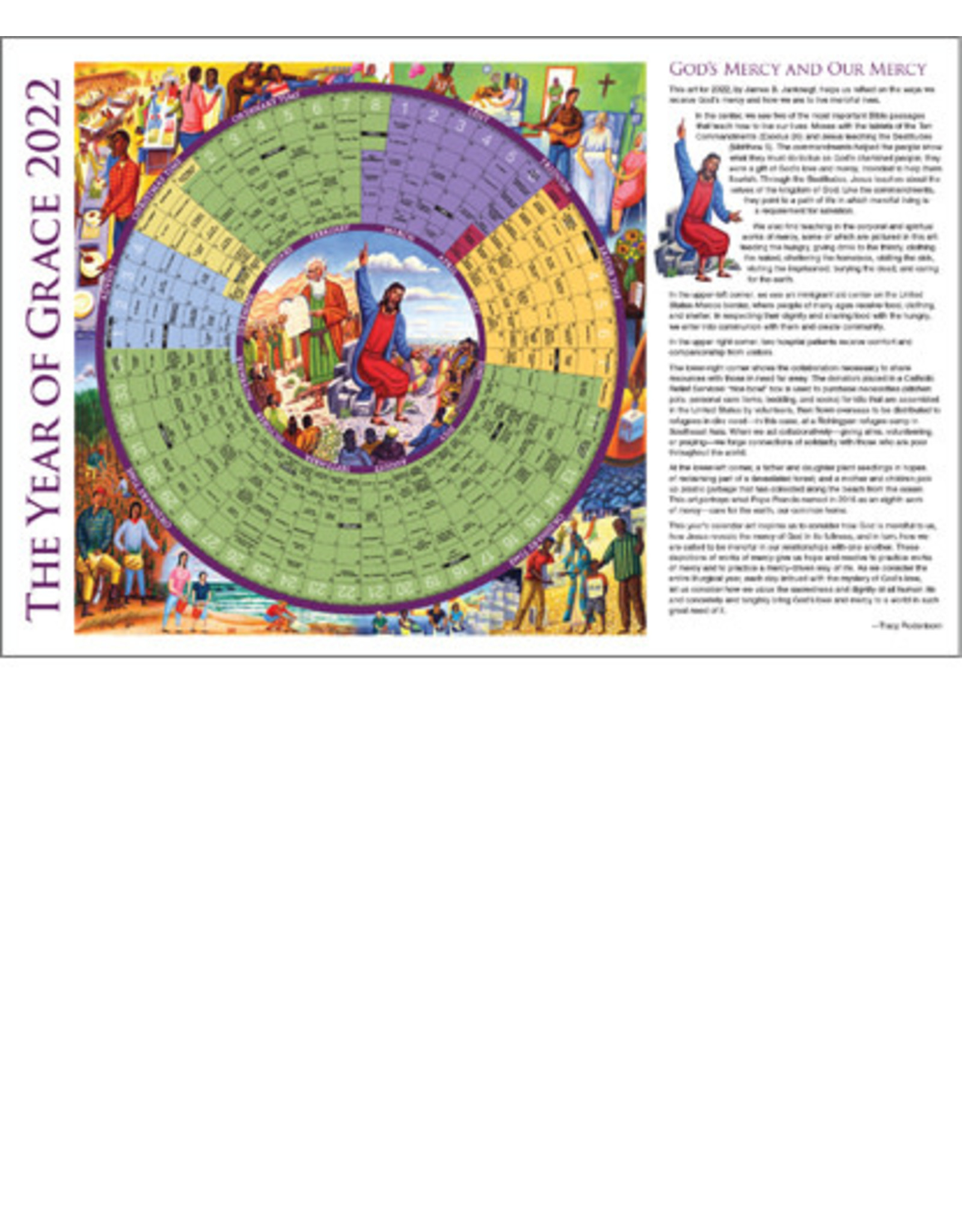 2022 Year of Grace Calendar - Paper Placemat Size (25)