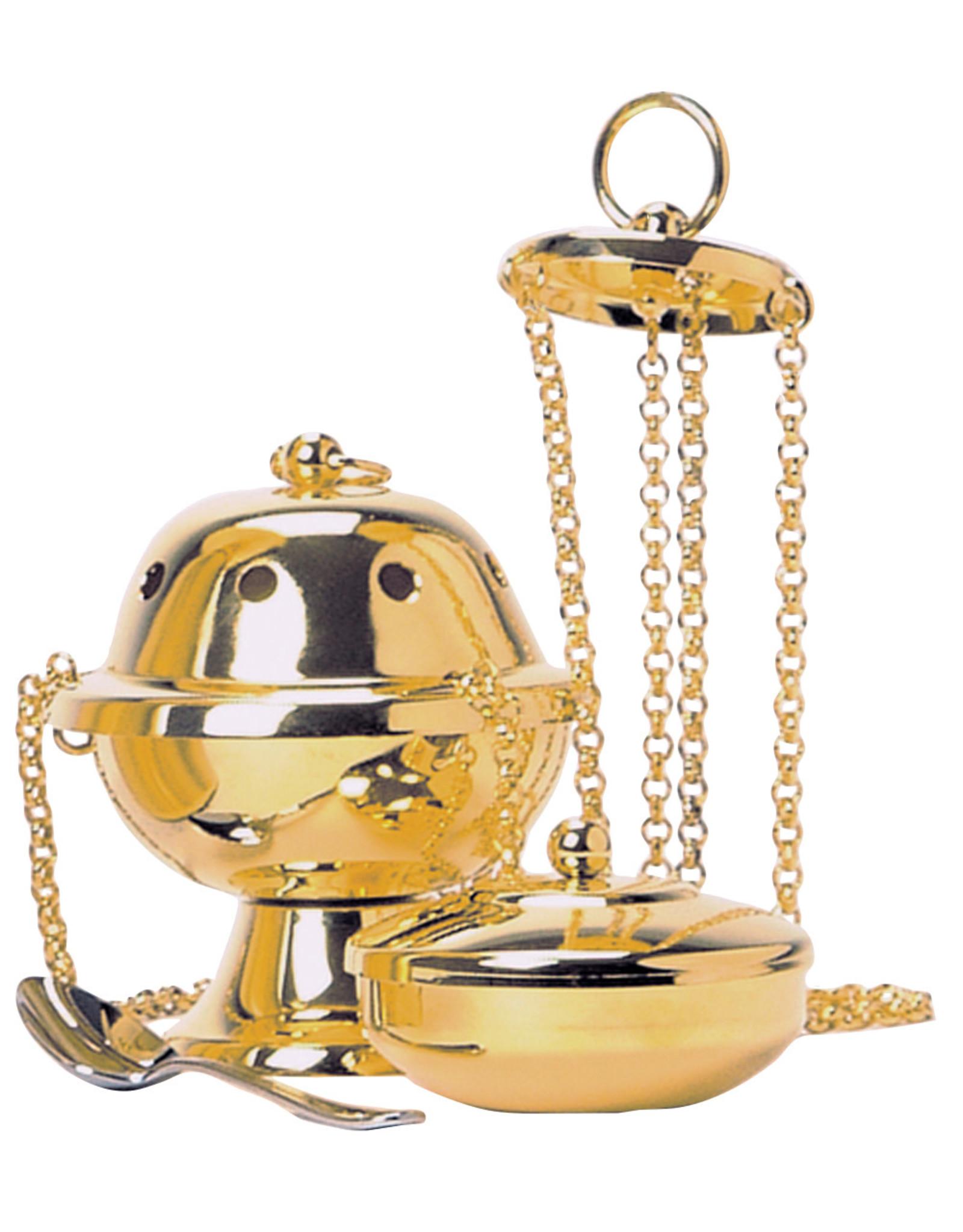 Censer, Boat & Spoon, 24kt Gold (3pc Set)