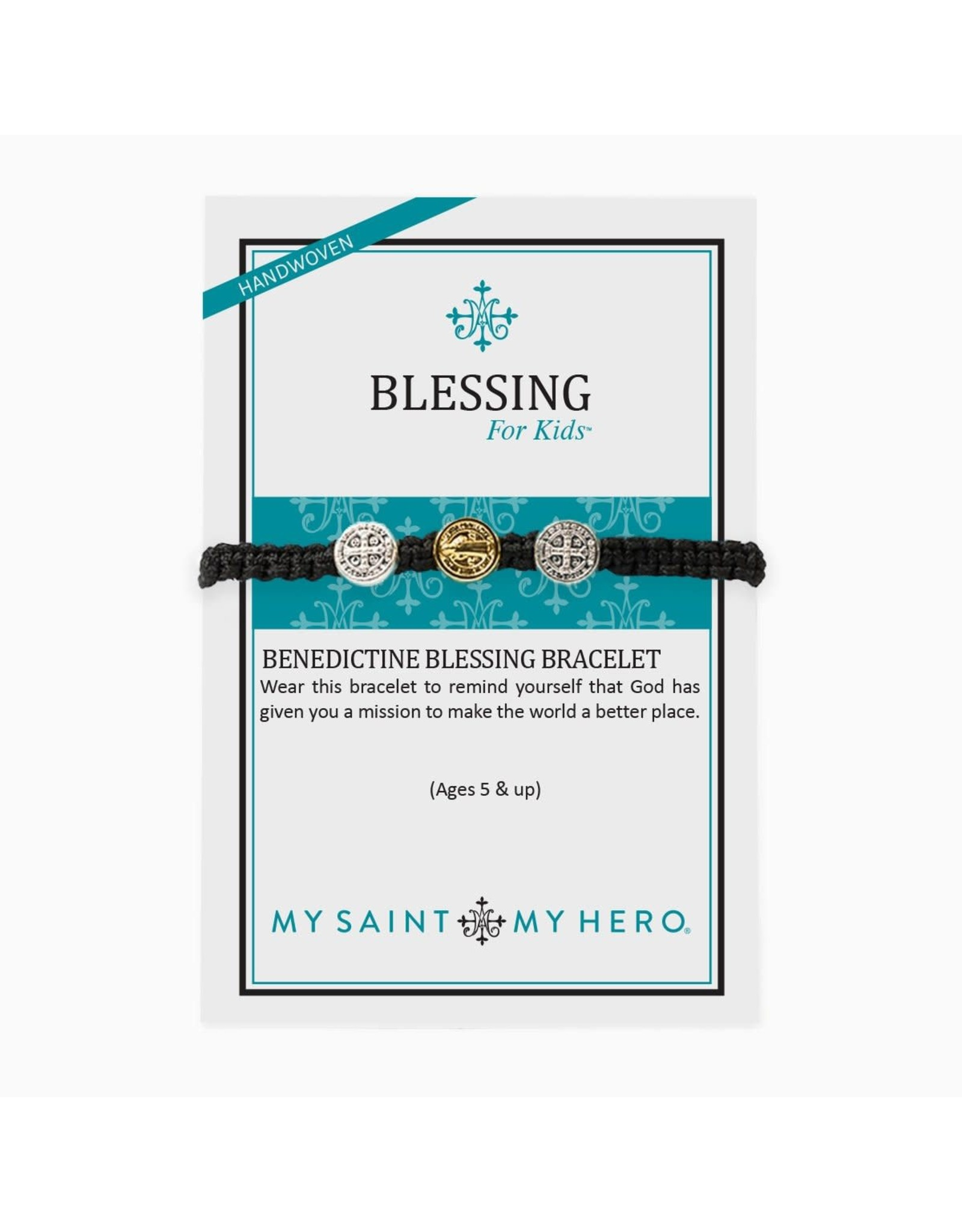 Bracelet - Benedictine Bracelet for Kids (Black)