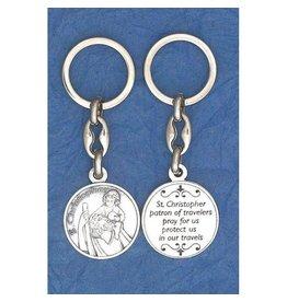St. Christopher Token Keychain