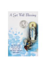 Get Well Soon - Our Lady of Lourdes Card with Removable Token
