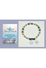 In Loving Memory - Italian Stretch Bracelet with Prayer Card