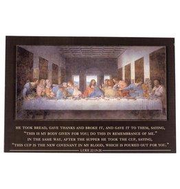 Plock Last Supper with Luke 22 Scripture