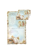 Baptism Invitations - Scroll, Pack of 10 with Envelopes (Spanish)