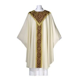 Chasuble - Saxony Collection - White - Europa Fabric