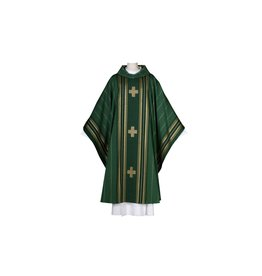 Chasuble - Macarius Collection - Green with Cowl Neck