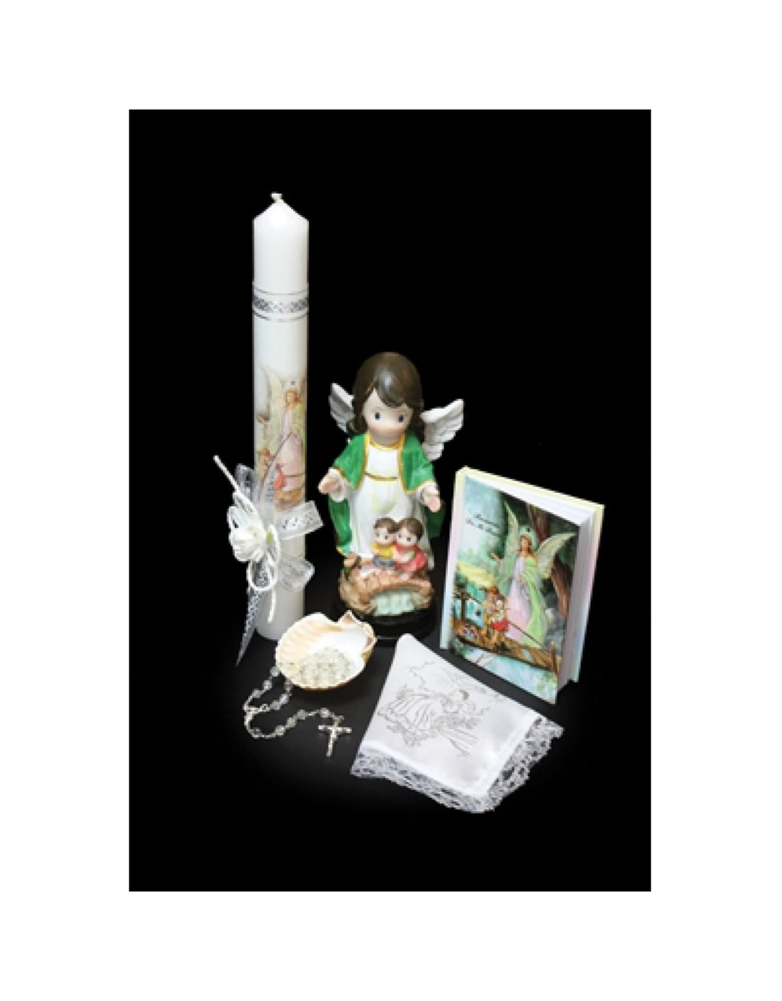 Baptism Set (English), Guardian Angel with Statue