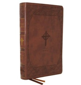 NABRE Large-Print Catholic Bible, Leather-Look Brown