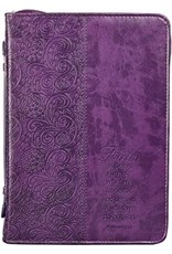 "Bible Cover Medium Purple ""Faith"""