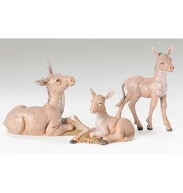 "Fontanini - Donkey Family 3pc (5"" Scale)"