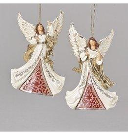 Laser Cut Angel Ornament, Ivory/Gold