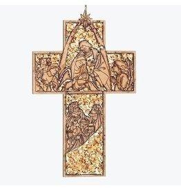Holy Family Cross Laser Cut Ornament