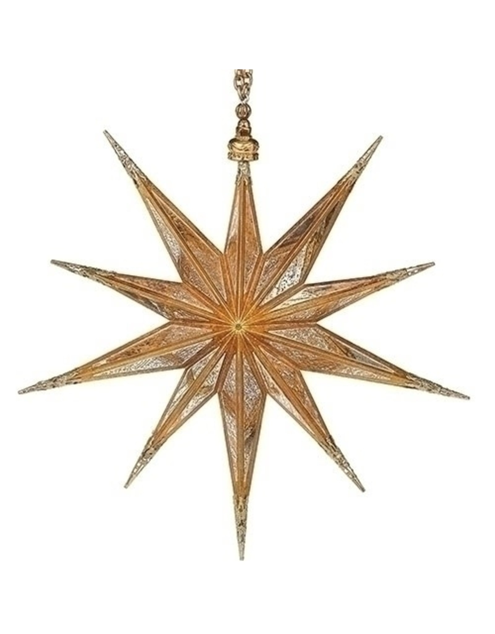 "Antique Gold Star Ornament (10"")"