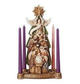 Advent Wreath (Candleholder) Nativity Under Star