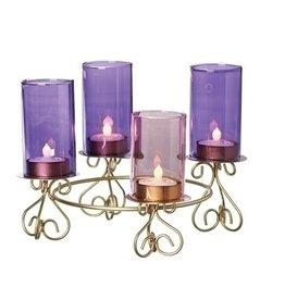 Advent Wreath (Candleholder) Glass Flutes