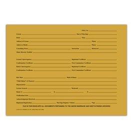Marriage Data Envelope 9x12 -Horizontal (Landscape)