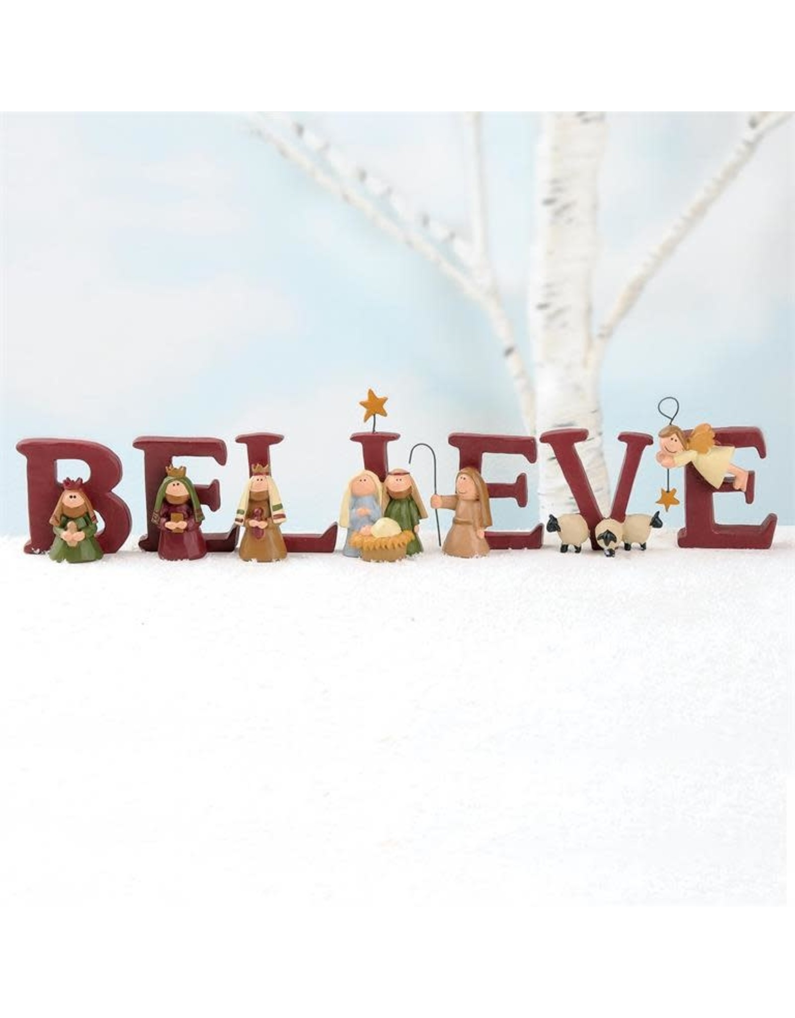 """Believe"" Nativity 7-Piece Letter Set"