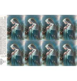 Holy Cards - Laser - Mystical Rose (Sheet of 8)