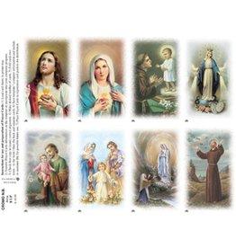 "Holy Cards - Laser - ""Alma Series"" (Sheet of 8)"