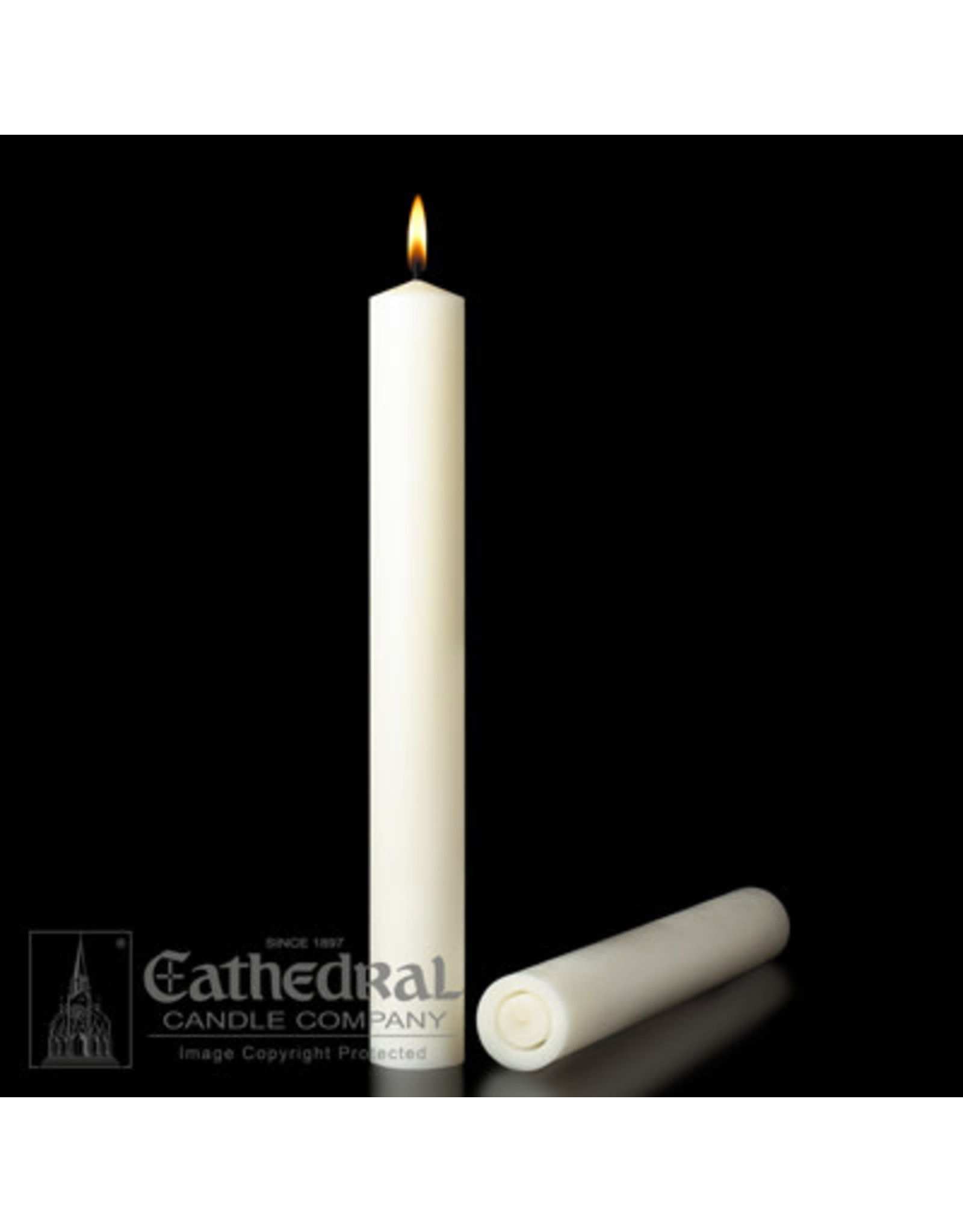 """51% Beeswax Altar Candles  1-15/16""""x17"""" (2)"""