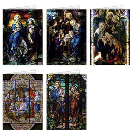 Stained Glass Christmas Cards (25)