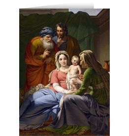 Holy Family with Grandparents Joachim & Anne Christmas Cards (25)