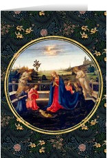 Adoration of the Child by Lippi Christmas Cards (25)