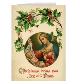 Vintage Madonna with Holly Christmas Cards ( 25)