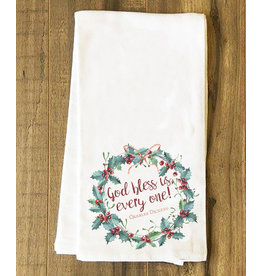 God Bless Us, Every One Tea Towel