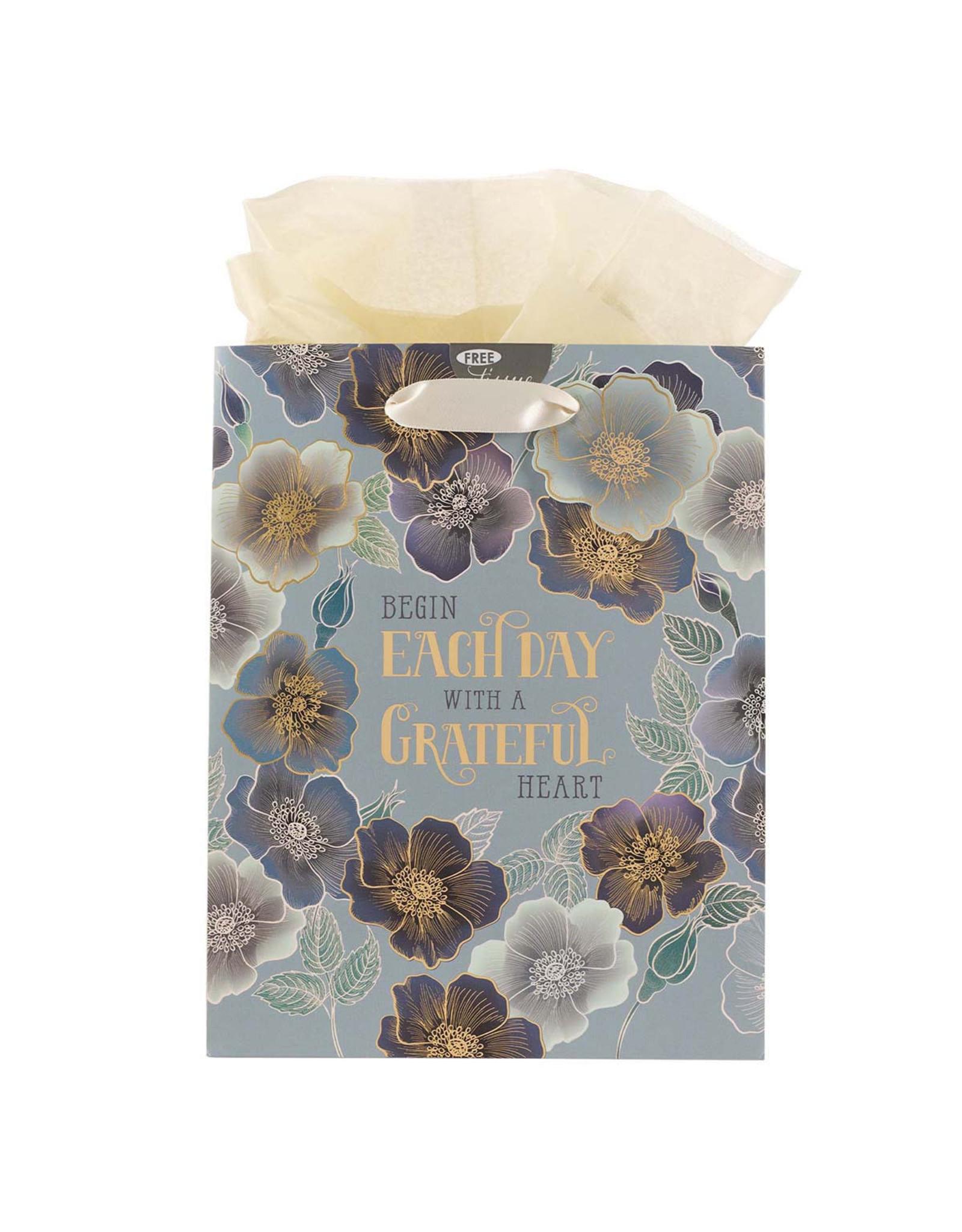 Begin Each Day With A Grateful Heart Medium Gift Bag