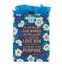 God Works For Good Medium Gift Bag - Romans 8:28