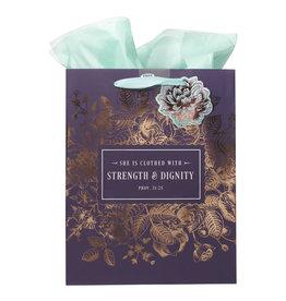 Strength & Dignity - Proverbs 31:25 Medium Gift Bag