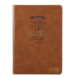 2022 Refuge and Strength Brown Faux Leather Zippered Executive Planner
