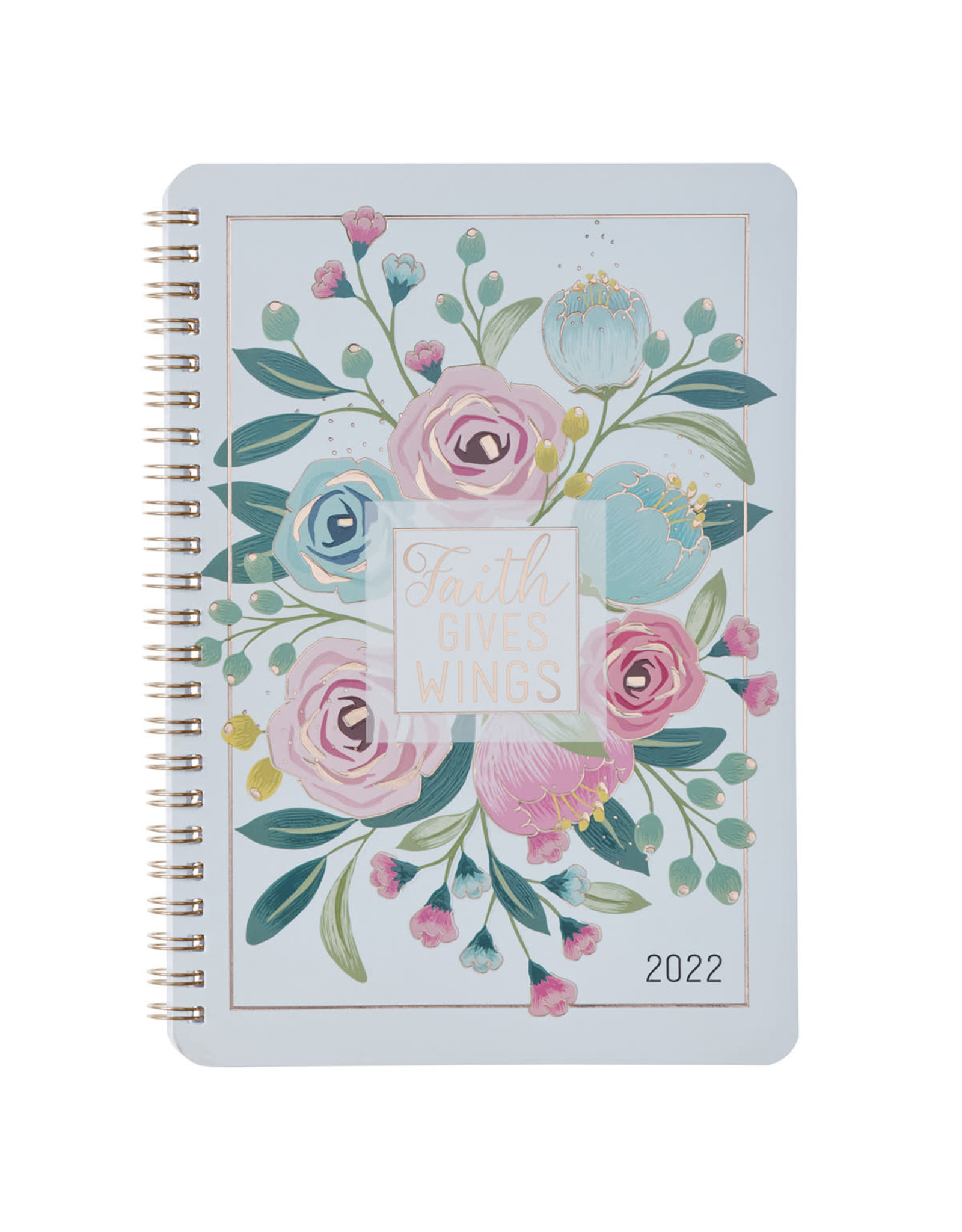 2022 Faith Gives Wings Wirebound Daily Planner