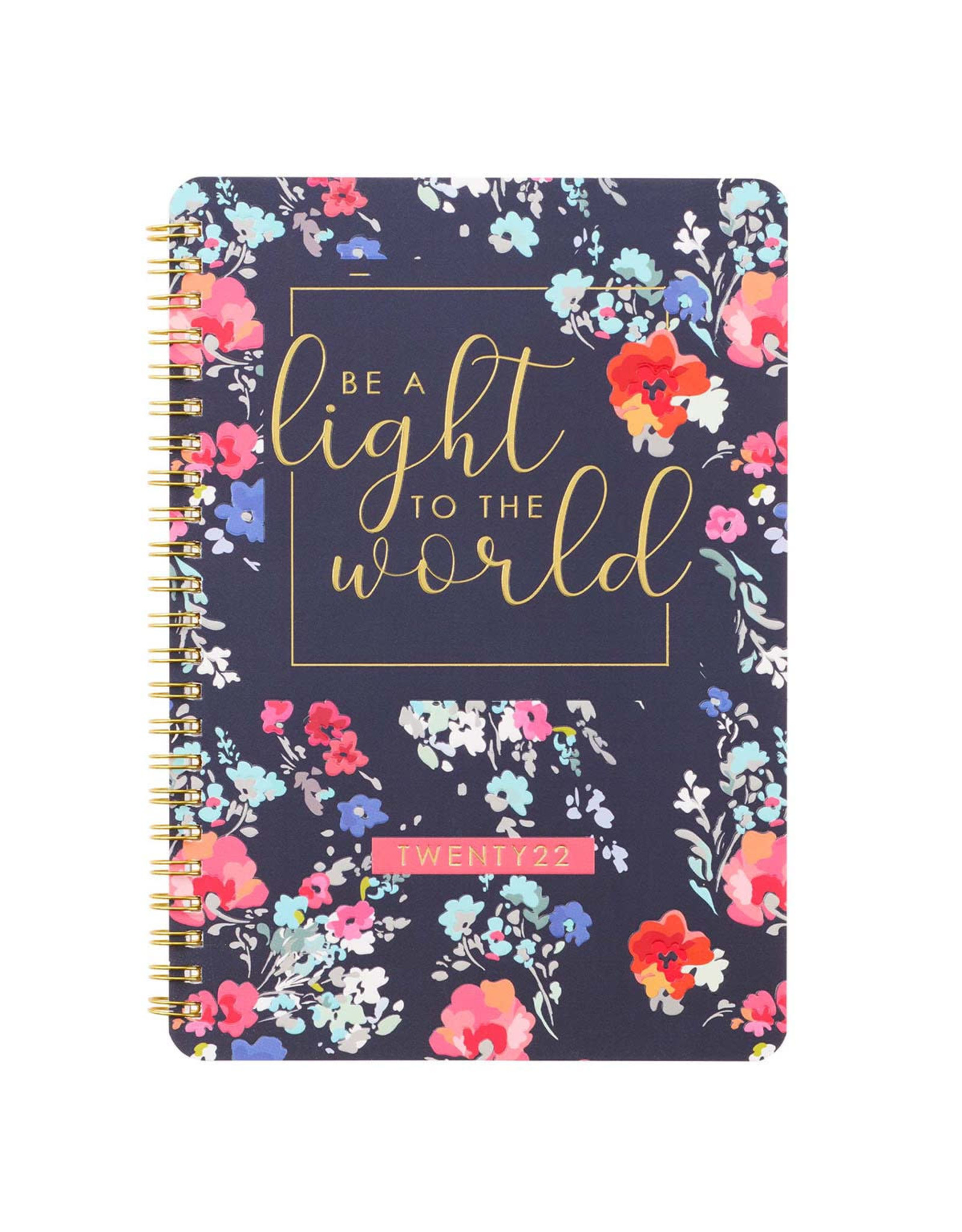 2022 Be A Light Wirebound Daily Planner