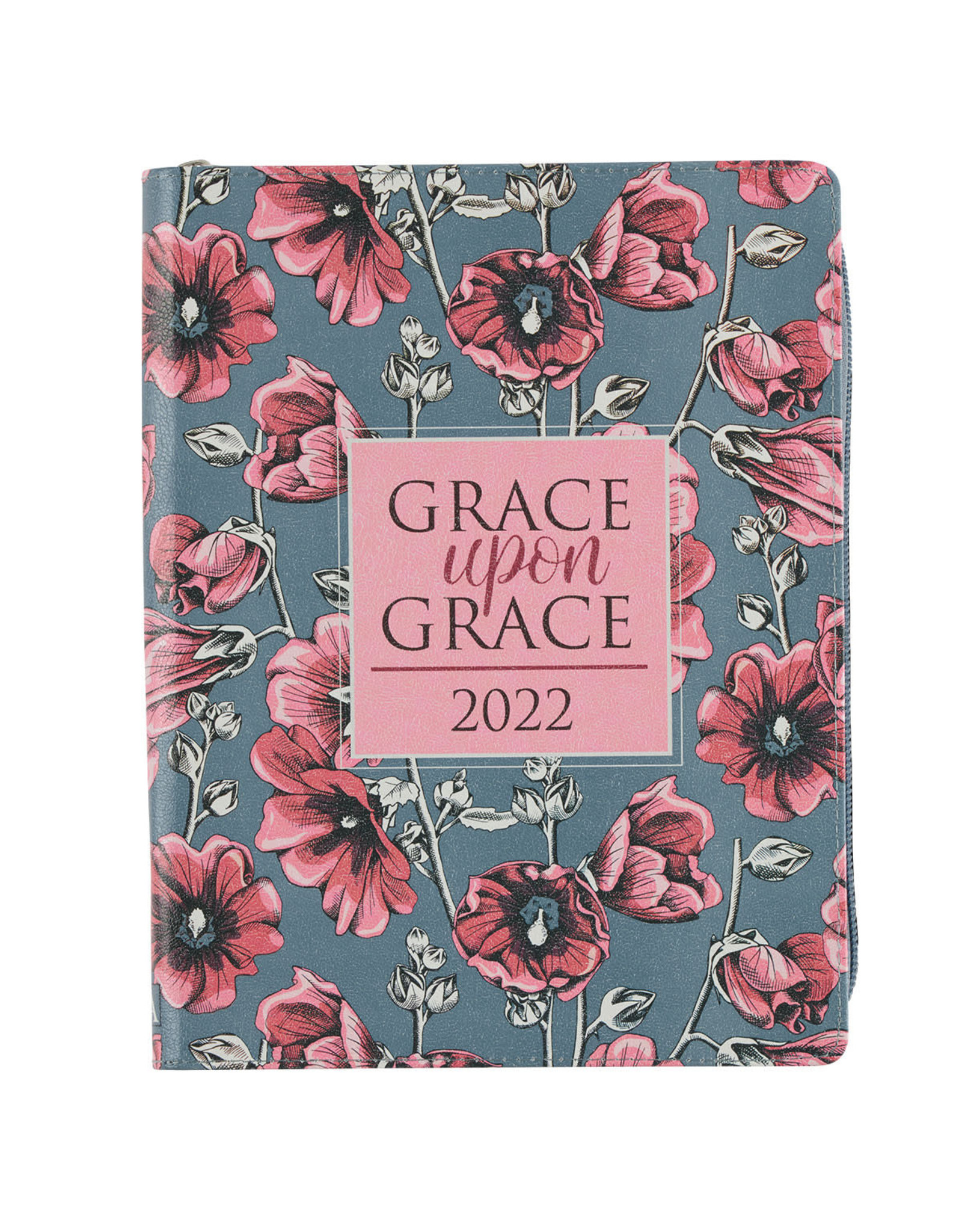 2022 Grace Upon Grace Large Floral Faux Leather 18-month Planner For Women